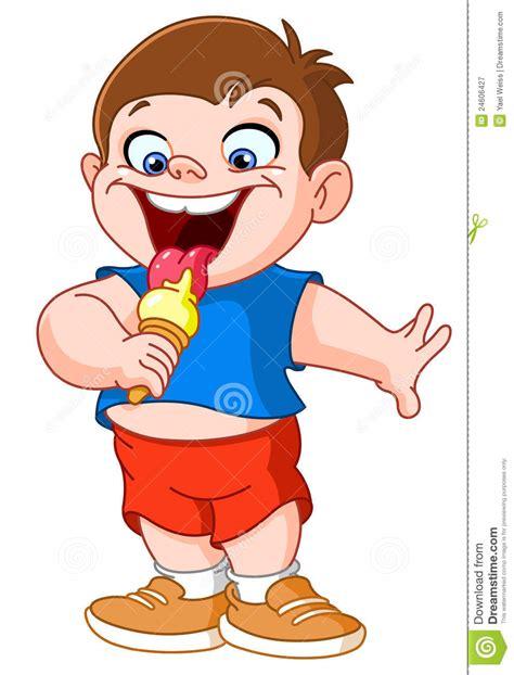clipart bambino bambino che mangia gelato illustrazione vettoriale