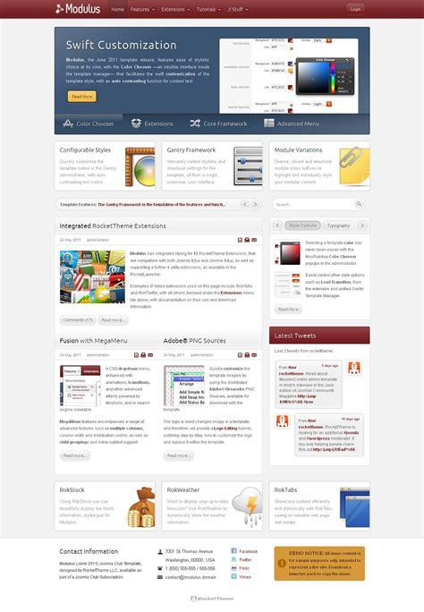 rockettheme joomla templates modulus premium joomla business template from rockettheme