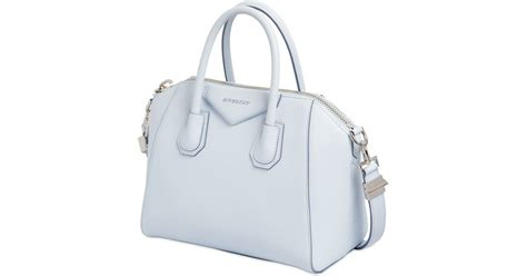 light blue givenchy bag givenchy small antigona grained leather bag in blue light