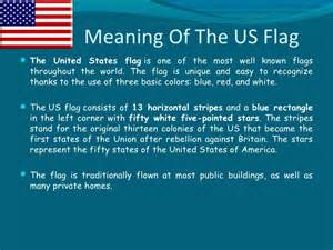 american flag color meaning the government of the united states of america