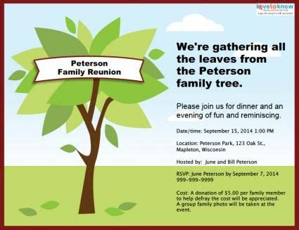 Family Reunion Invitation Card Templates by Customizable Family Reunion Invitation Reunion Ideas