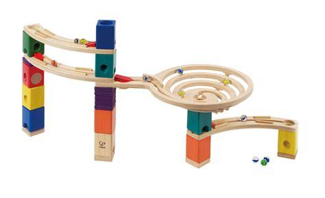 Which Hape Marble Run Quadrilla - hape quadrilla wooden marble run builder roundabout high