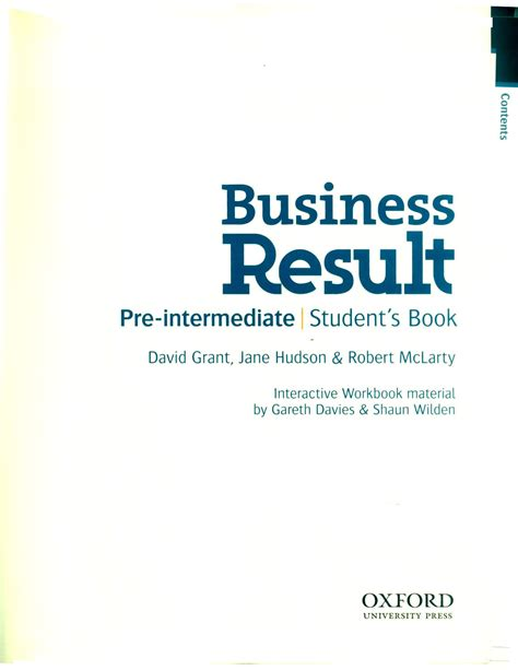 business result pre intermediate student s book
