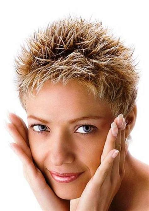 spikey hairstyles for women over 45 with fat face spiky very short hairstyles for older women