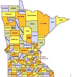 Mn County Minnesota Map With Cities Counties Minnesota State Map