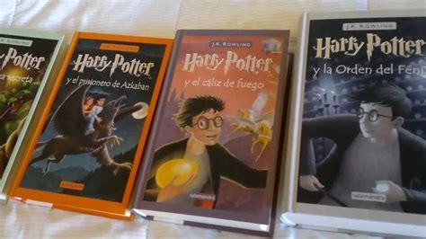 libro harry potter y el j k rowling los libros de harry potter youtube