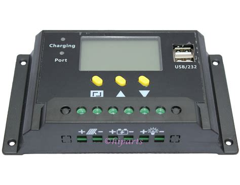 Solar Charge Controller 30 A With Usb lcd 30a pwm solar panel regulator charge controller 12v
