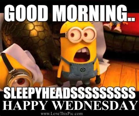 Happy Wednesday Meme - good morning wednesday quotes quote minions good morning