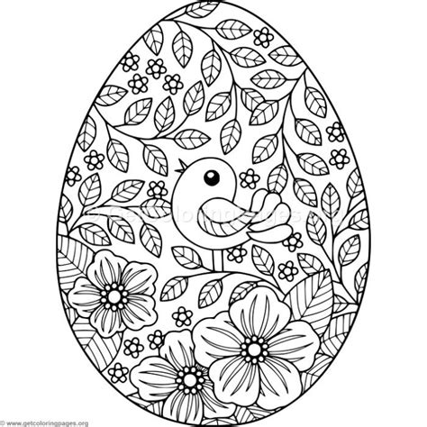 easter mandala with birds and eggs coloring page free bird and flowers easter egg coloring pages