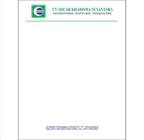 Cetak Kop Surat 1 Warna Hvs 7080gr 1 One Day Service cetakprint cetak apa saja cetak kop surat