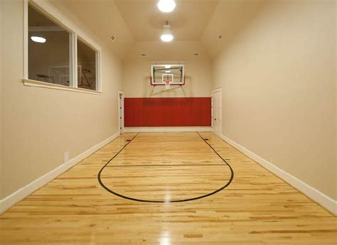 how much to build a basketball court in backyard indoor basketball court home