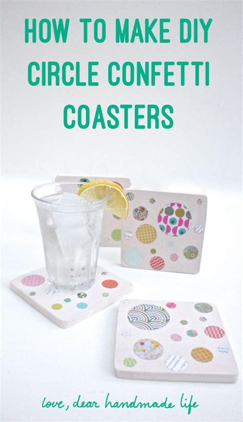 How To Make Handmade Coasters - how to make diy circle confetti coasters with sizzix