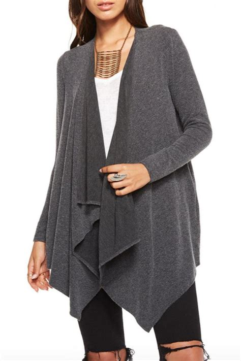 drape front cardigan chaser drape front cardigan from rhode island by