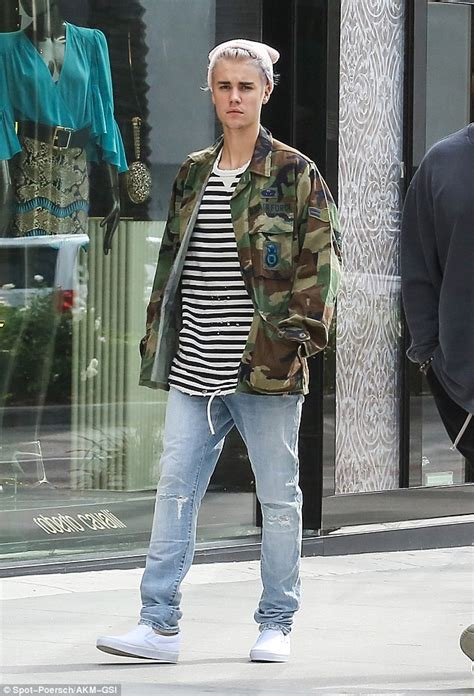 Justin Bieber Wardrobe by Justin Bieber With Corey Gamble Before Bumping Into Adam