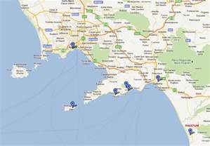 Map Of Italy Amalfi Coast by Gallery For Gt Amalfi Coast Map