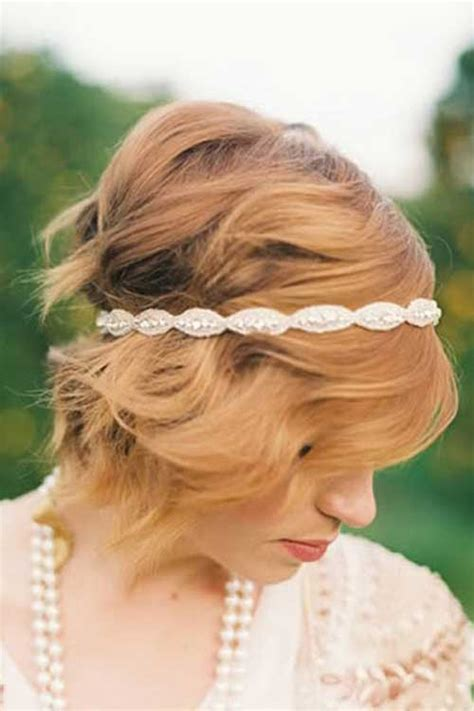 cute hairstyles with headbands 30 wedding hair styles for short hair hairstyles