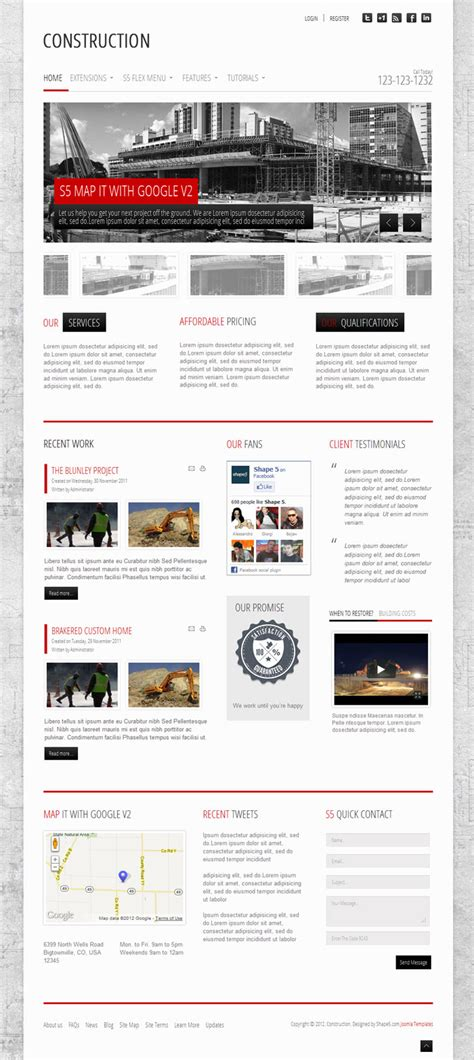 construction wordpress theme for masonry contract work