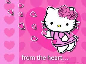 wallpaper bergerak valentine gambar hello kitty bergerak lucu hello kitty 3d animation