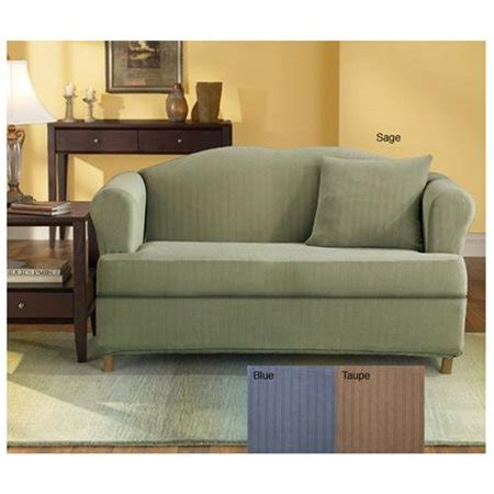 t couch slipcovers stretch pinstripe sage 2 piece t cushion sofa slipcover