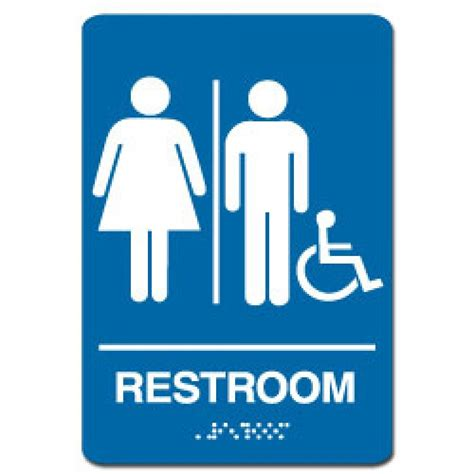 handicap bathroom sign handicap restroom sign