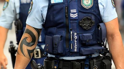 police tattoo policy tattoos banned for nsw breaking national news and