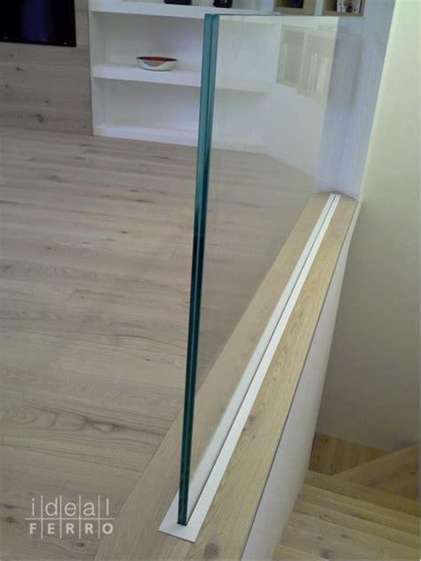 corrimano vetro parapetto in vetro con supporto a scomparsa idealferro