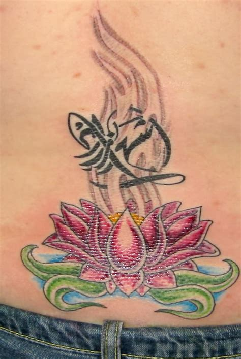 tattoos lotus flower design lotus flower tattoos designs on lower back