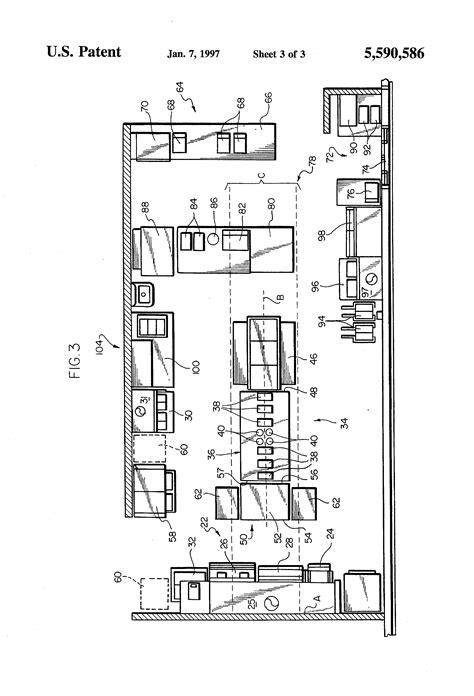 Kitchen Cabinet Layouts Design patent us5590586 kitchen layout system google patents