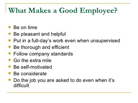 what makes a employee