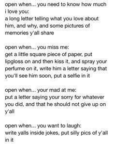 up letter for boyfriend sles 1000 ideas about open when letters on open