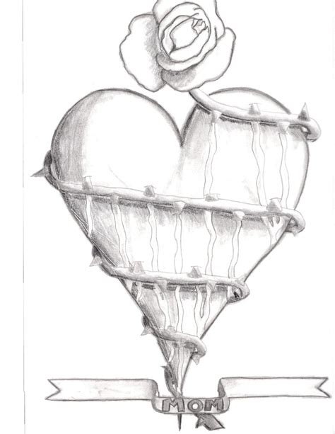 rose and heart drawing printable coloring of valentine
