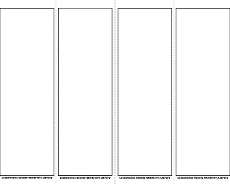bookmarks templates bookmark template 1 for free tidyform