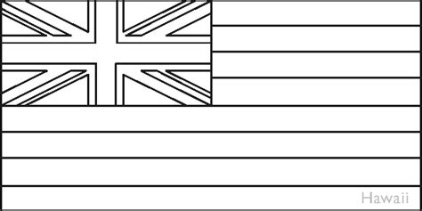 hawaii state flag coloring pages usa for kids