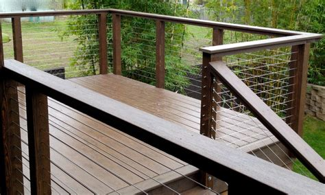 wire banister invisible wire railing modern deck san diego by