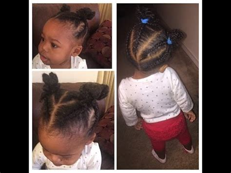 how to braid black hair babies braided ninja buns easy hairstyle for baby and toddler