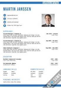 Resume Header Exle by Resume Cv Template In Ms Word 2 Color Versions In 1 Incl 2nd Page Template And Matching