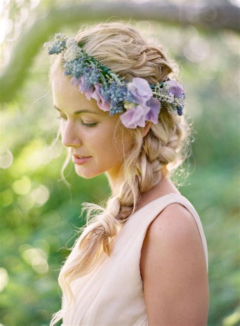 Wedding Hair With Flower Crown by Wedding Hair Floral Crown Wedding Hair With Flower Crown