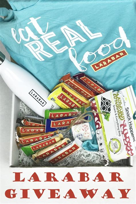 The Real Giveaways - larabar real food giveaway the best larabar flavors