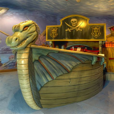viking bed sunken viking ship bed and deep sea mural and luxury baby