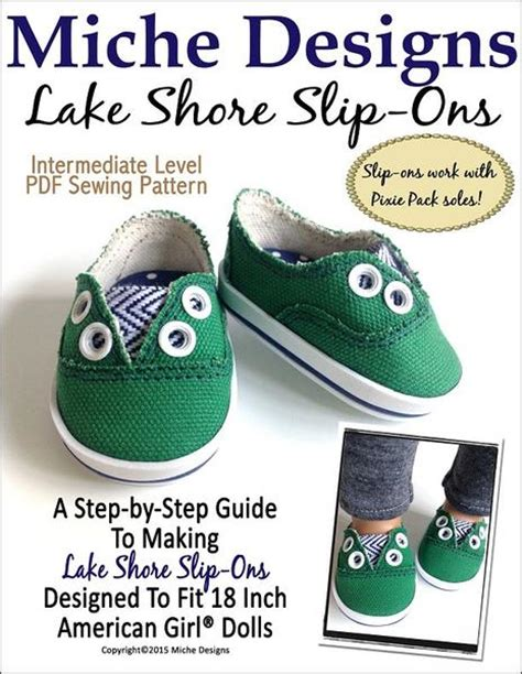 how to make american doll shoes miche designs lake shore slip ons doll clothes pattern 18