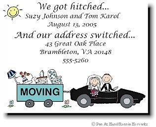 make your own change of address cards wedding moving cards by the personal note use our stick