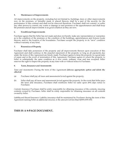 Ohio Installment Land Contract Legal Forms And Business Templates Megadox Com Land Contract Template Ohio