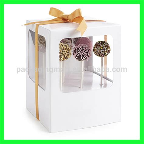 window bakery boxes wholesale n651 bakery boxes cake pop boxes with window wholesale in