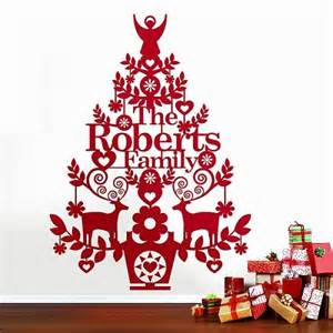 10 alternative xmas trees that really make a difference colour in christmas tree wall sticker by oakdene designs