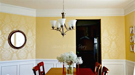 Dining Room Stencils by Dining Room With Stenciled Walls
