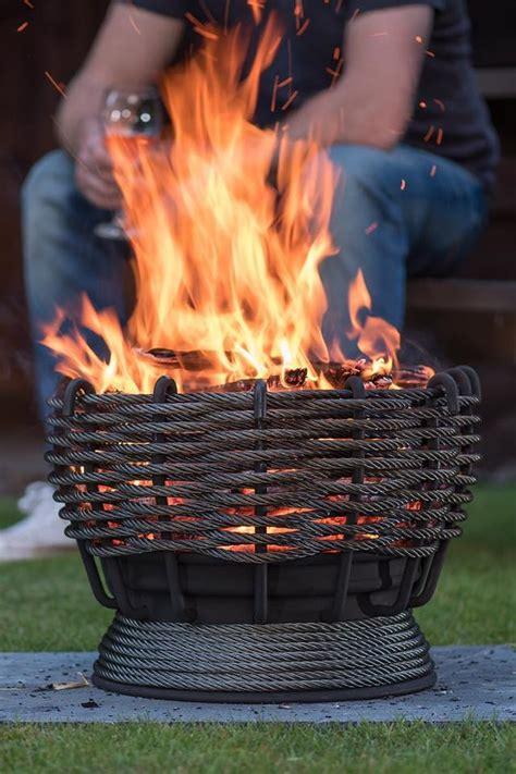 firebasketgarden outdoorheatingmetalsteelwirerope