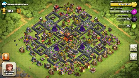 Coc Village Layout Th10 | popular coc th10 war bases myideasbedroom com