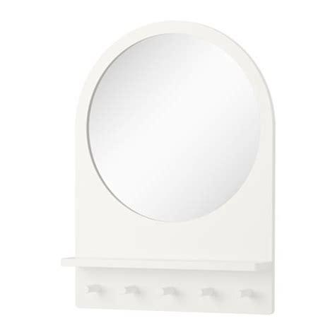 ikea bathroom mirror with shelf saltr 214 d mirror with shelf and hooks white 50x68 cm ikea