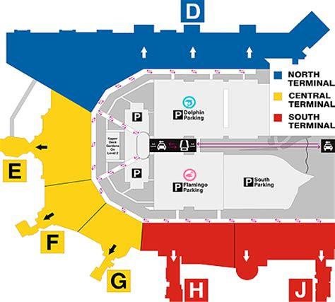Bus Terminal Floor Plan Design by Miami International Airport Services Amp Amenities
