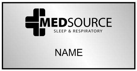 medsource respiratory name badges name tag wizard